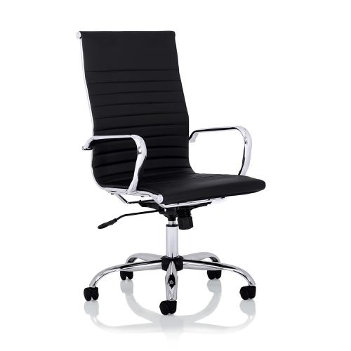 Trexus Nola High Back Executive Chair Bonded Leather Black Ref OP000226