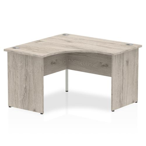 Trexus Panel End Call Centre Desk 1200mm Grey Oak Ref I003138