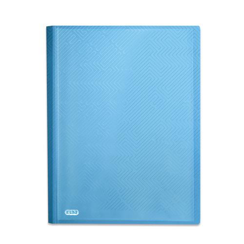 Elba Bright Display Book PP 20 Pkt A4 Blue Ref 400104983 [Pack 10]