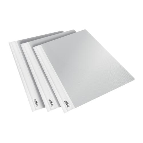 Rexel Choices Report Fldr Clear Front Capacity 160 Sheets A4 White Ref 2115645 [Pack 25]