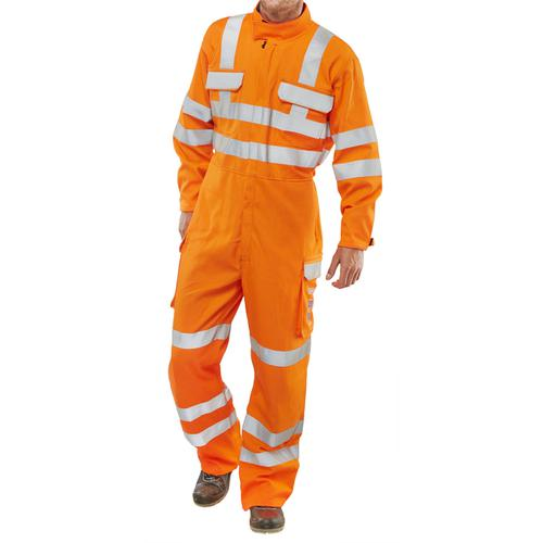 Click Arc Flash Gort Coveralls Go/RT Hi-Vis Size 54 Orange Ref CARC53OR54 *Up to 3 Day Leadtime*