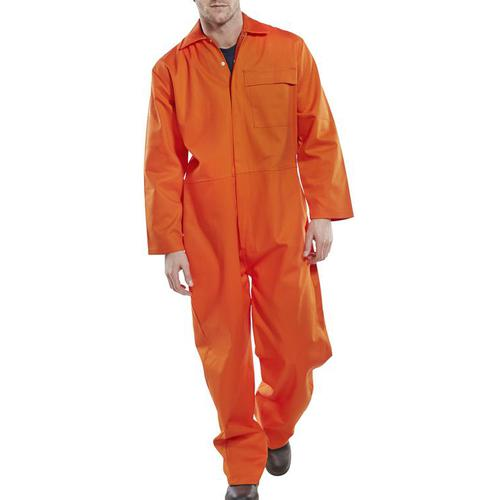 Click Fire Retardant Boilersuit Cotton Size 60 Orange Ref CFRBSOR60 *Up to 3 Day Leadtime*