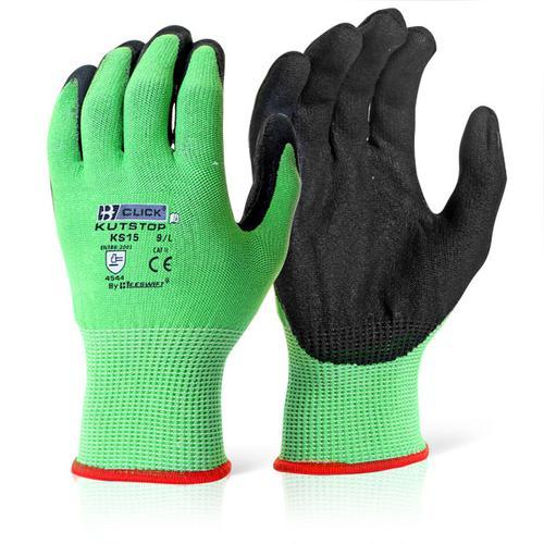 Click Kutstop Micro Foam Nitrile Green Cut Level 5 Green 2XL Ref KS15XXL [Pack 10] *Up to 3 Day Leadtime*