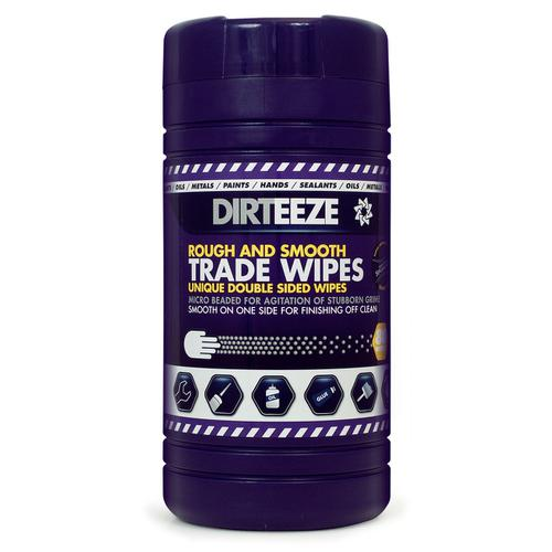 Dirteeze Rough & Smooth Wipes Dispenser Tub 220x200mm Ref DZRS80 [80 Wipes] *Up to 3 Day Leadtime*