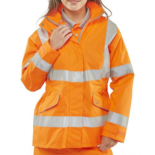 B-Seen Ladies Executive High Visibility Jacket XS Orange Ref LBD35ORXS *Up to 3 Day Leadtime*