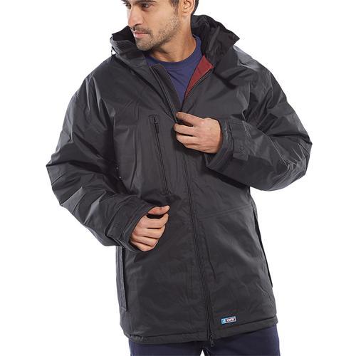 B-Dri Weatherproof Mercury Jacket with Zip Away Hood 2XL Black Ref MUJBLXXL *Up to 3 Day Leadtime*