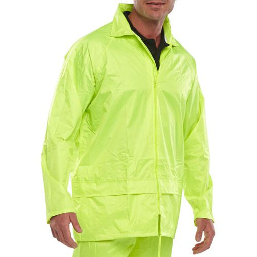 B-Dri Weatherproof Jacket Hood Lightweight Nylon 2XL Saturn Yellow Ref NBDJSYXXL *Up to 3 Day Leadtime*