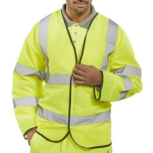 B-Seen High Visibility Long Sleeve Jerkin Large Orange Ref PKJENGL *Up to 3 Day Leadtime*