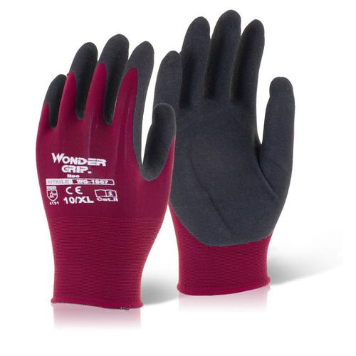 Wonder Grip Glove Neo Oil/Wet Resistance Large Red [Pack 12] Ref WG1857L *Up to 3 Day Leadtime*