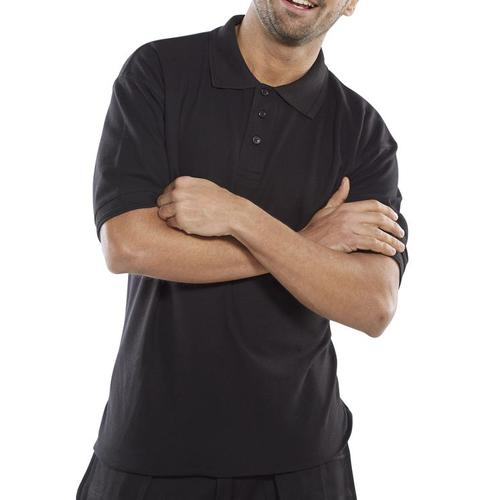 Click Premium Polo Shirt 260gsm 3XL Black Ref CPPKSBLXXXL *Up to 3 Day Leadtime*