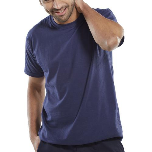 Click Workwear T-Shirt 150gsm 2XL Navy Blue Ref CLCTSNXXL *Up to 3 Day Leadtime*