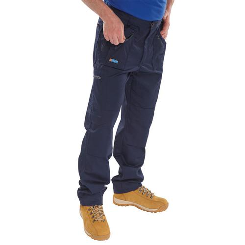 Click Workwear Work Trousers Navy Blue 44-Tall Ref AWTN44T *Up to 3 Day Leadtime*