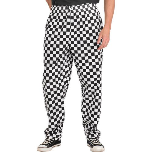 Click Workwear Chefs Trousers XL Black/White Ref CCCTBLWXL *Up to 3 Day Leadtime*