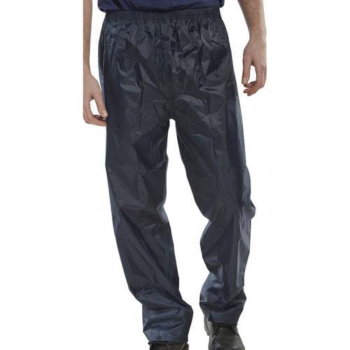 B-Dri Weatherproof Trousers Nylon Lightweight 3XL Navy Blue Ref NBDTNXXXL *Up to 3 Day Leadtime*