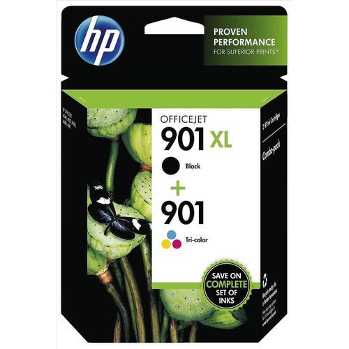 Hewlett Packard [HP] No.901XL/901 Inkjet Cart 700pp Black HY 14ml Tri-Colour 360pp 9ml[Pk2] RefSD519AE