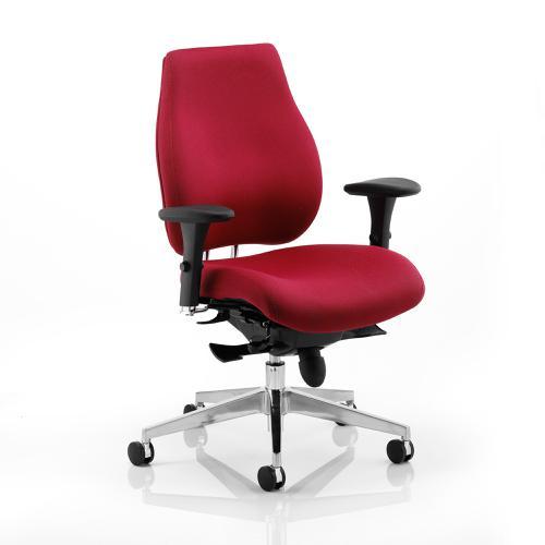 Sonix Chiro Plus Ergo Posture Chair With Arms Wine Ref PO000018