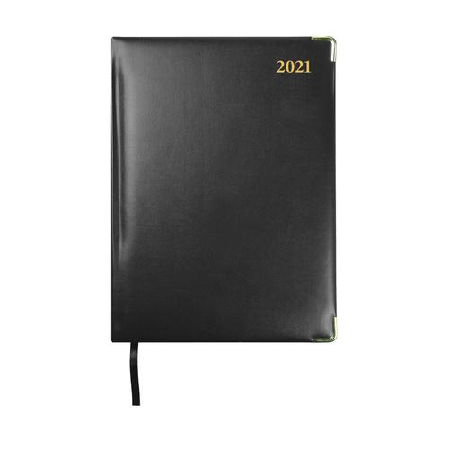 Collins 2021 Classic Compact Diary Week to View Sewn Binding 190x260mm Black Ref 1210V 2021
