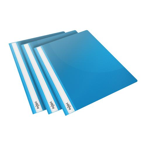 Rexel Choices Report Fldr Clear Front Capacity 160 Sheets A4 Blue Ref 2115646 [Pack 25]