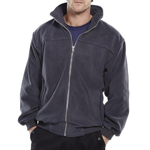 Click Workwear Endeavour Fleece with Full Zip Front XS Grey Ref EN30GYXS *Up to 3 Day Leadtime*