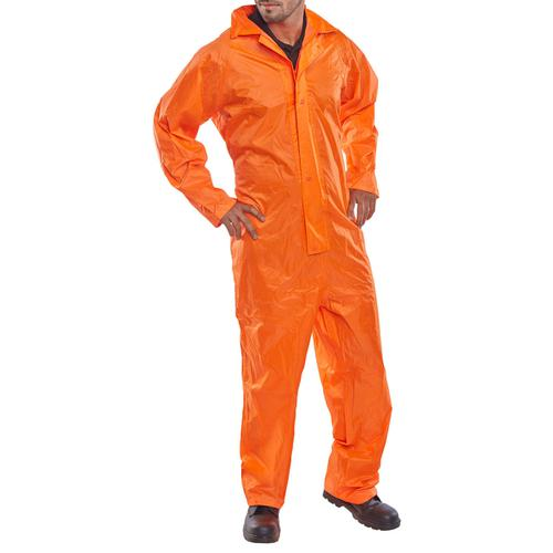 B-Dri Weatherproof Nylon Coveralls 4XL Orange Ref NBDCORXXXXL *Up to 3 Day Leadtime*