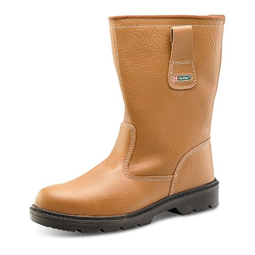 Rigger Boot Plus Leather with Rubber Toecap Size 8 Tan *Approx 3 Day Leadtime*