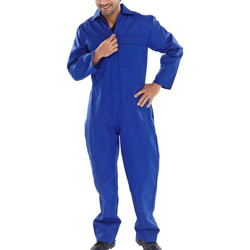 Click Fire Retardant Boilersuit Cotton Size 36 Royal Blue Ref CFRBSR36 *Up to 3 Day Leadtime*