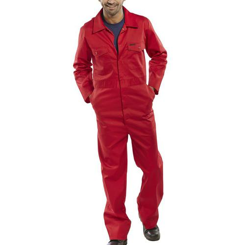 Click Workwear Boilersuit Red Size 50 Ref PCBSRE50 *Up to 3 Day Leadtime*