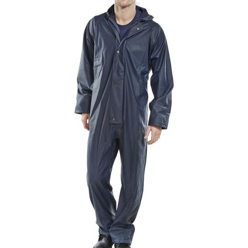 Super B-Dri Weatherproof Coveralls M Navy Blue Ref SBDCNM *Up to 3 Day Leadtime*