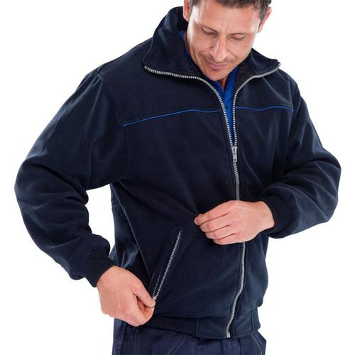 Click Workwear Endeavour Fleece with Full Zip Front 2XL Navy Blue Ref EN28NRXXL *Up to 3 Day Leadtime*