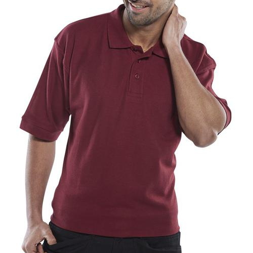 Click Workwear Polo Shirt Polycotton 200gsm XL Burgundy Ref CLPKSBUXL *Up to 3 Day Leadtime*