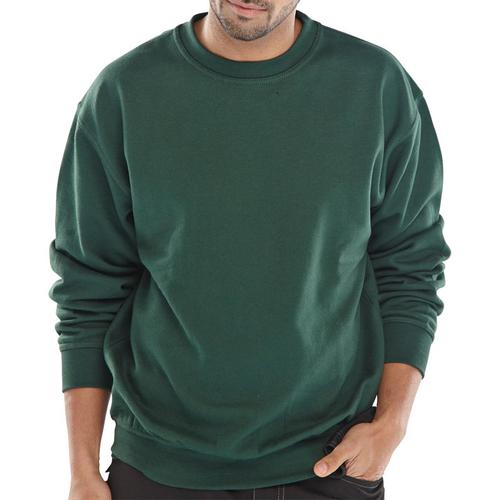 Click Workwear Sweatshirt Polycotton 300gsm 2XL Bottle Green Ref CLPCSBGXXL *Up to 3 Day Leadtime*