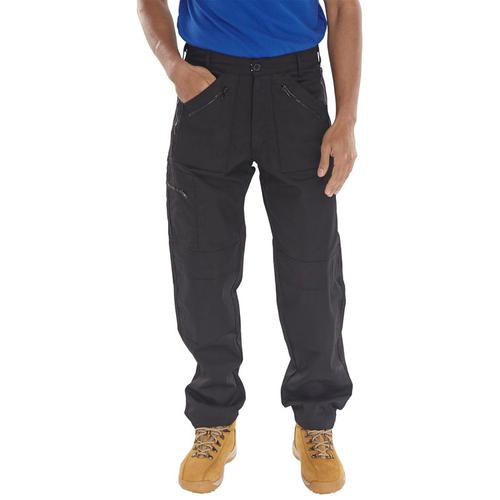 Click Workwear Work Trousers Black 30-Tall Ref AWTBL30T *Up to 3 Day Leadtime*