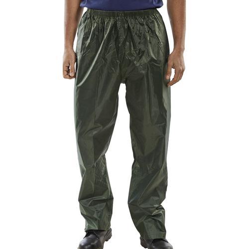 B-Dri Weatherproof Trousers Nylon Lightweight L Olive Green Ref NBDTOL *Up to 3 Day Leadtime*