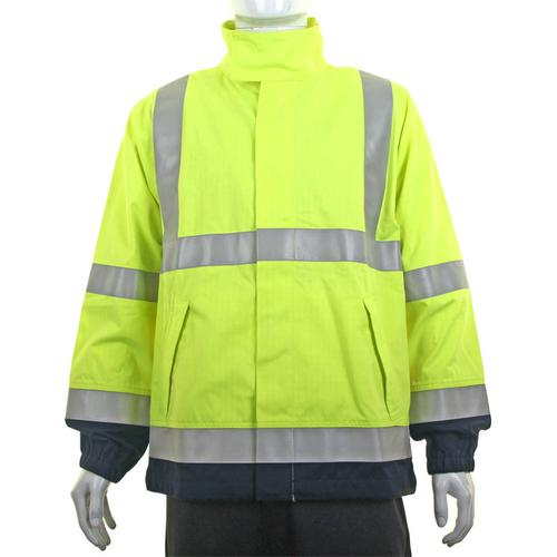 Click Arc High-Vis Two Tone Woven Jacket 3XL Saturn Yellow/Navy Ref CArc925SYNXXXL*Up to 3 Day Leadtime*