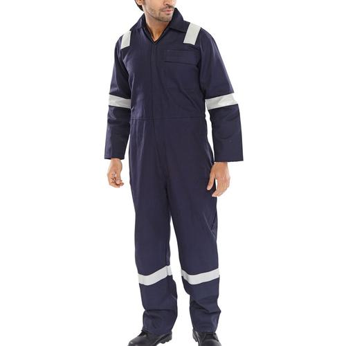 Click Fire Retardant Boilersuit Nordic Design Cotton 40 Navy Ref CFRBSNDN40 *Up to 3 Day Leadtime*