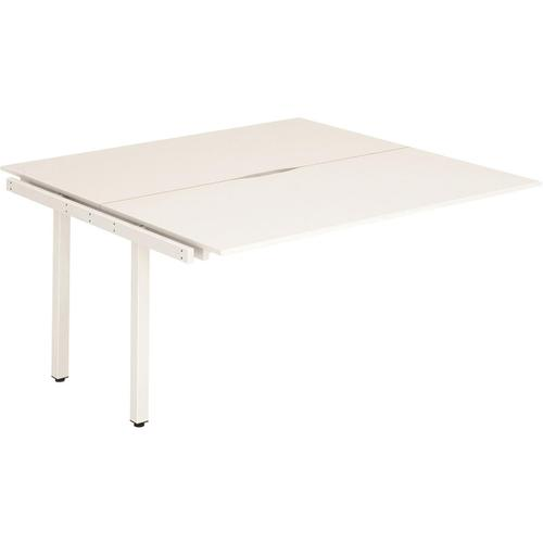 Trexus Bench Desk Double Extension Back to Back Configuration White Leg 1200x1600mm White Ref BE200