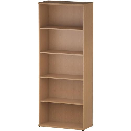 Trexus Office Very High Bookcase 800x400x2000mm 4 Shelves Oak Ref I000760