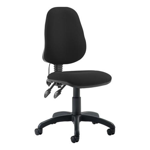 Trexus Lumbar High Back Permanent Contact Chair Black 480x450x490-590mm Ref LM00001