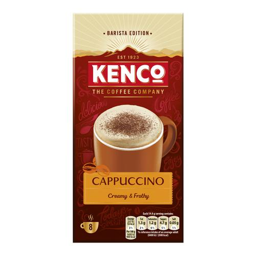 Kenco Cappuccino Instant Sachet Ref 4031817 [Pack 8 x 5 Boxes]