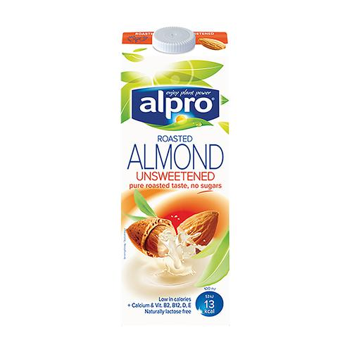 Alpro Almond Milk Unsweetened 1 Litre [Pack 8]