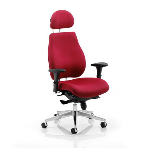 Sonix Chiro Plus Ergo Posture Chair With Arms With Headrest Wine Ref PO000025