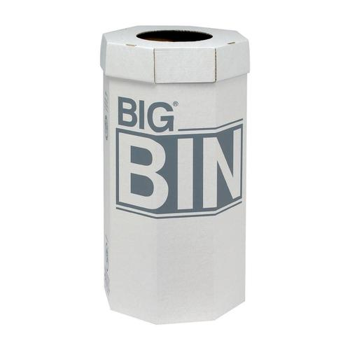Acorn Large Bin Flat Packed Recycled Board Material 160 Litres 450x900mm White Ref  [Pack 5]