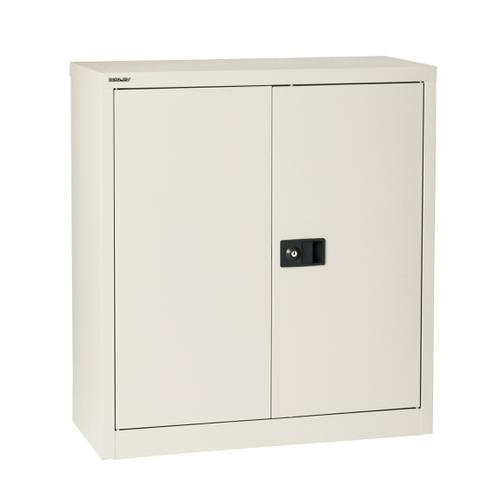 Trexus Stationery Cupboard 1 Shelf 914x400x1000mm Chalk White Ref E402A01-ab9