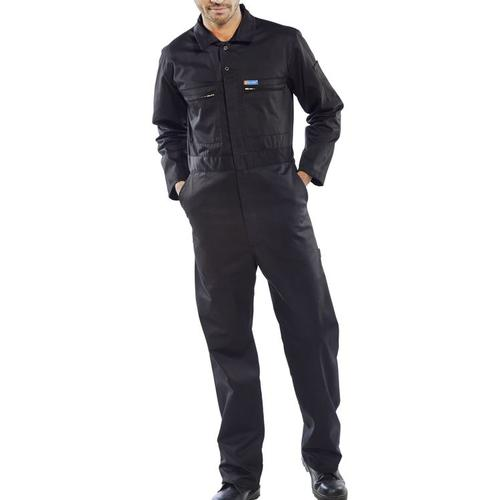 Super Click Workwear Heavy Weight Boilersuit Black 42 Ref PCBSHWBL42 *Up to 3 Day Leadtime*