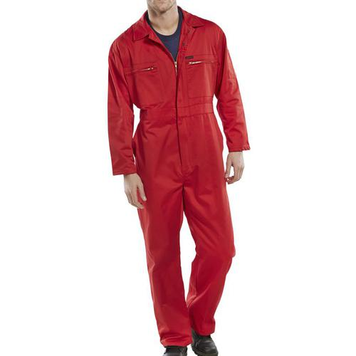 Super Click Workwear Heavy Weight Boilersuit Red Size 52 Ref PCBSHWRE52 *Up to 3 Day Leadtime*