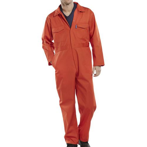 Click Workwear Boilersuit Size 52 Orange Ref PCBSOR52 *Up to 3 Day Leadtime*