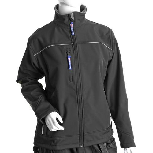 Click Workwear Ladies Soft Shell Water Resistant Jacket Large Black Ref LSSJBLL *Up to 3 Day Leadtime*