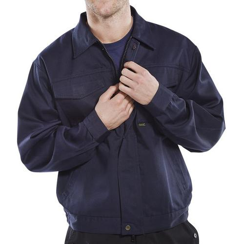 Click Heavyweight Drivers Jacket Navy 36in Blue Ref PCJ9N36 *Up to 3 Day Leadtime*