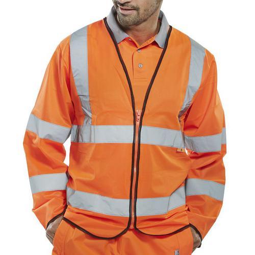 Click Fire Retardant Hi-Vis Jerkin Long Slv 4XL Orange Ref CFRPKJOR4XL *Up to 3 Day Leadtime*