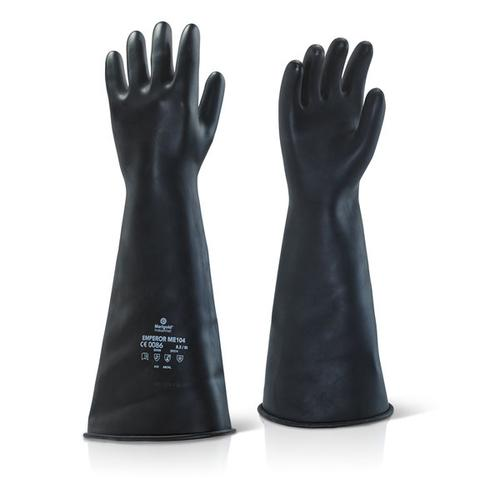 Ansell Industrial Latex Medium Weight 17inch Gauntlet Black Size 09 Ref ILMW1709 *Up to 3 Day Leadtime*